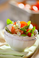Goat�fs cheese and tomato salad