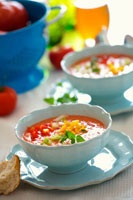 Gazpacho with diced vegetables