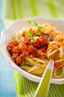 Spaghetti with mince sauce