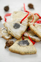Poppy seed biscuits for Christmas