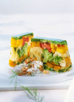 Two slices of vegetable aspic