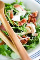 Rocket, fig and Parma ham salad