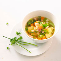 Potato and vegetable soup 22199044043| 写真素材・ストックフォト・画像・イラスト素材|アマナイメージズ