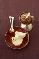Chocolate ice cream and white chocolate