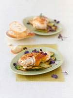 Roast chicken breast with Cheddar cheese