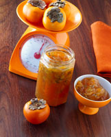 Persimmon, kiwi fruit and carambola jam