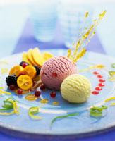 Vanilla and redcurrant ice cream