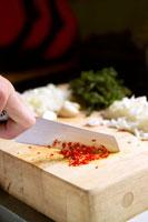 Chopping chilli