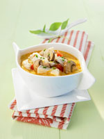 Spicy chicken stew with coconut