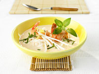 Prawn and coconut soup with ginger