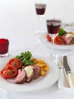 Slices of beef fillet