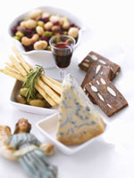 Appetizers,Cheese,Breadsticks,Olives and Mixed Nuts