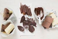 Dark,milk & white chocolate,cocoa,chocolate rolls & le