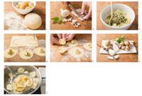 Making tortelloni alle patate e speck