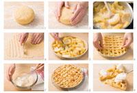 Making crostata di mele (lukewarm apple pie),Lombardy