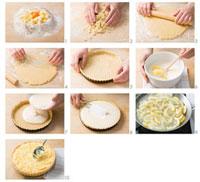 Making crostata al limone (Lemon tart,Italy)