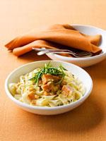 Ribbon pasta with sweet potatoes