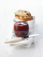 Acai berry and strawberry jam