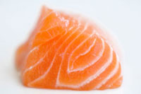 A piece of salmon,close-up
