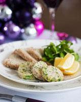 Kipper paste,bread and lemon wedges (Christmas)