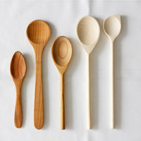 Various wooden spoons