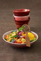 Moroccan lentil and vegetable stew with millet 22199056615| 写真素材・ストックフォト・画像・イラスト素材|アマナイメージズ