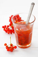 Rowanberry jam in glass