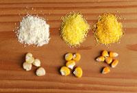 Corn kernels and cornmeal 22199056946| 写真素材・ストックフォト・画像・イラスト素材|アマナイメージズ