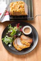 Loin of pork with macadamia and carrot crust 22199057051| 写真素材・ストックフォト・画像・イラスト素材|アマナイメージズ
