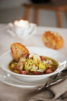 Dublin Coddle (Sausage and potato stew,Ireland)