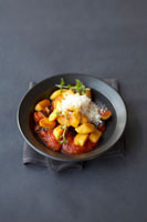 Gnocchi with tomato and aubergine sauce and Parmesan