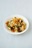 Orecchiette with cauliflower,tomatoes,breadcrumbs & thym