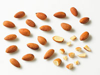 Shelled almonds,whole and pieces