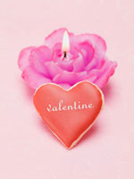 Valentine's Day biscuit,rose candle