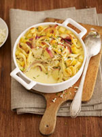 Spaetzle gratin (a type of noodle)
