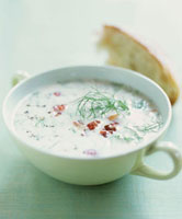 Cream of fennel soup with bacon