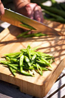 Slicing runner beans