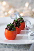 Tomatoes stuffed with tapenade