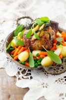 Pork neck with vegetables