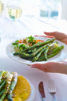 Green asparagus with vinaigrette