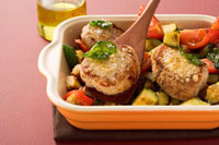 Pork medallions with Tuscan vegetables