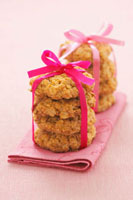 Oat biscuits with gift ribbons