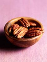 Pecans in wooden bowl