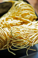 Dried,home-made linguine