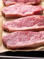Slices of sirloin steak