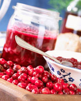Cranberries and cranberry jam