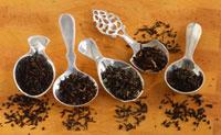Five different sorts of black tea