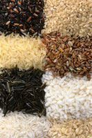 Eight different sorts of rice
