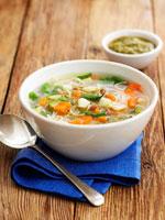 Soupe au pistou (Vegetable soup with pesto,France)