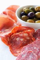 Charcuterie Platter with Prosciutto,Sopressata and Salami;